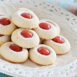 The BEST Jam Thumbprint Cookies