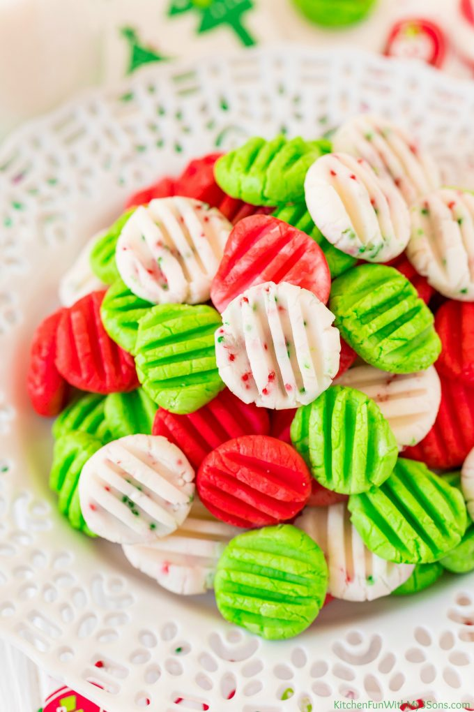 Christmas Cream Cheese Mints