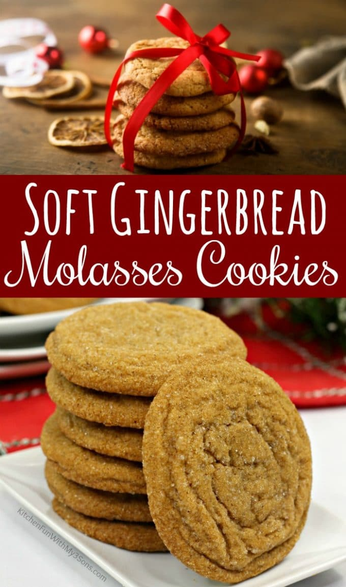 Soft Gingerbread Molasses Cookies