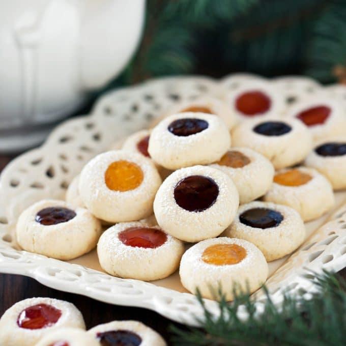 Jam Shortbread Cookies for Christmas