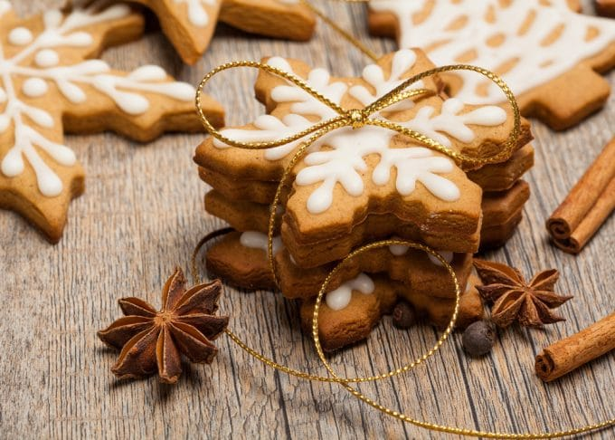 Snowflake Cookies packaged for Gifts