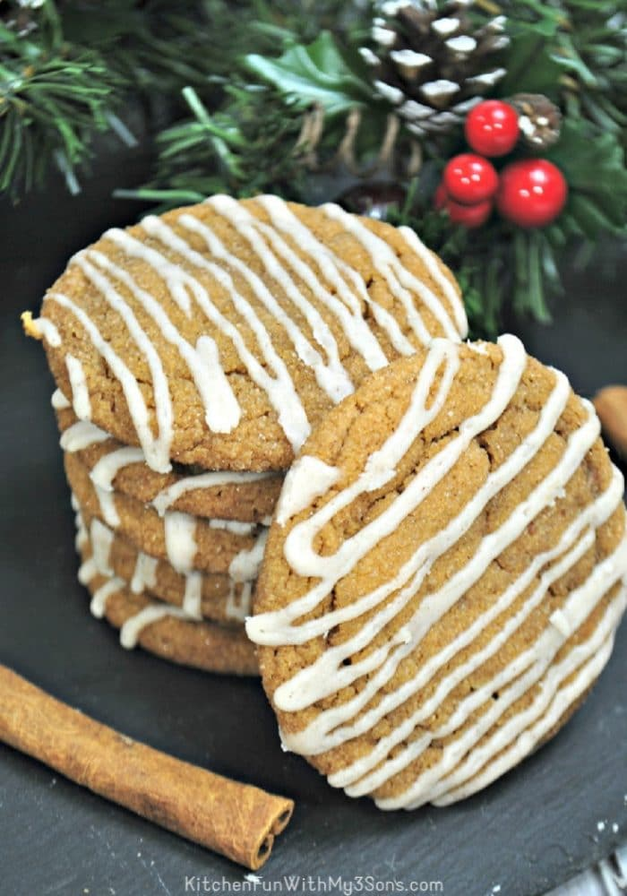 Stack of ginger maple cookies
