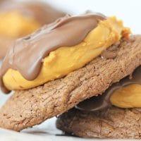 Buckeye Brownie Cookies Stacked