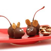 Chocolate Cherry Mice for Christmas