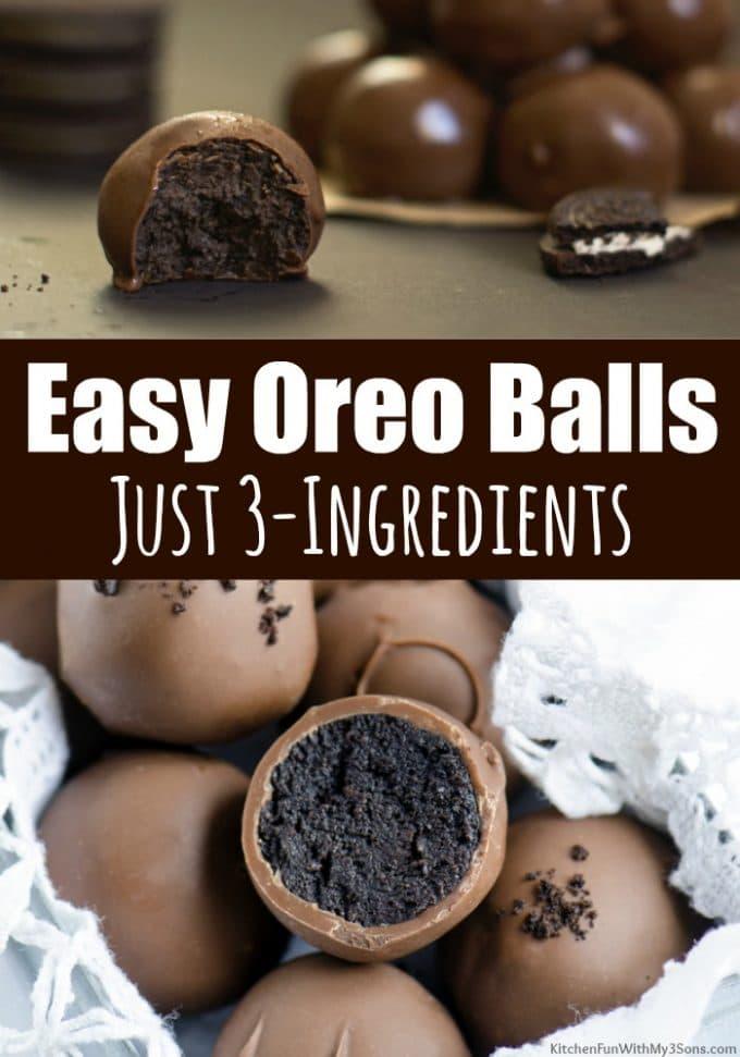 Easy Oreo Balls Recipe - Just 3-Ingredients!