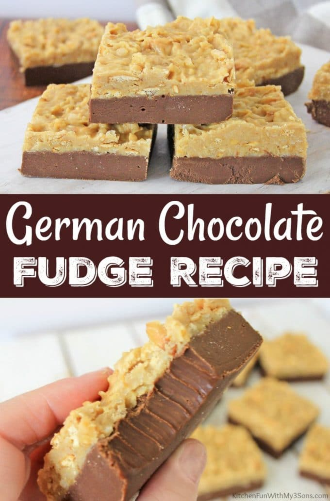 Easy German Chocolate Fudge Recipe