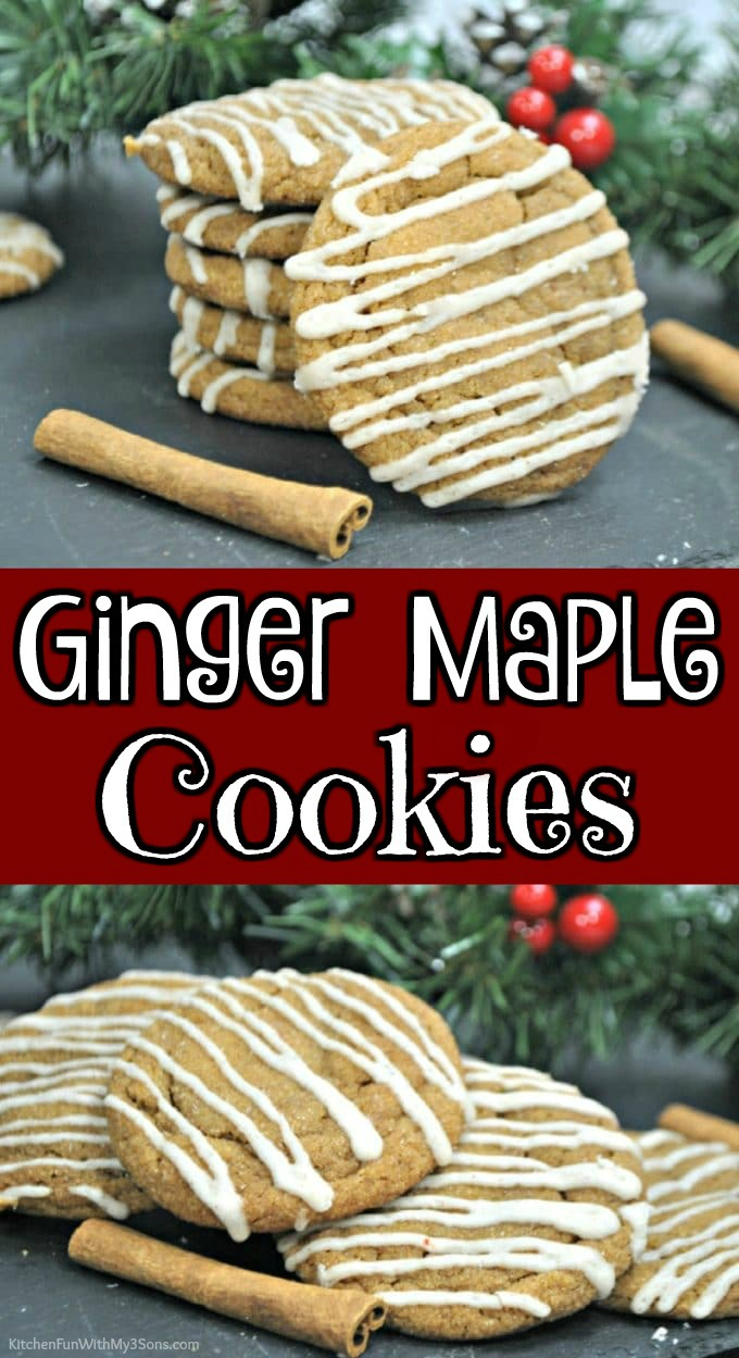 Ginger Maple Cookies collage
