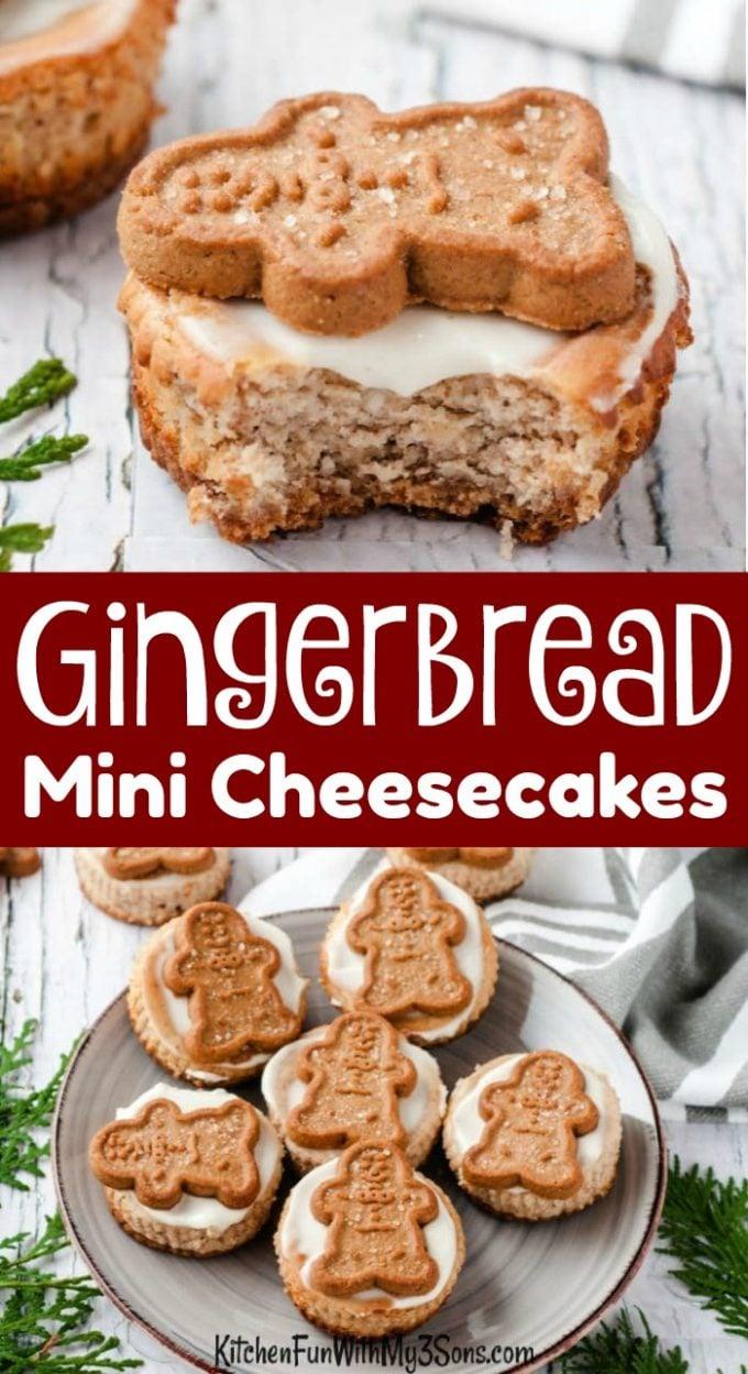 Gingerbread Mini Cheesecakes