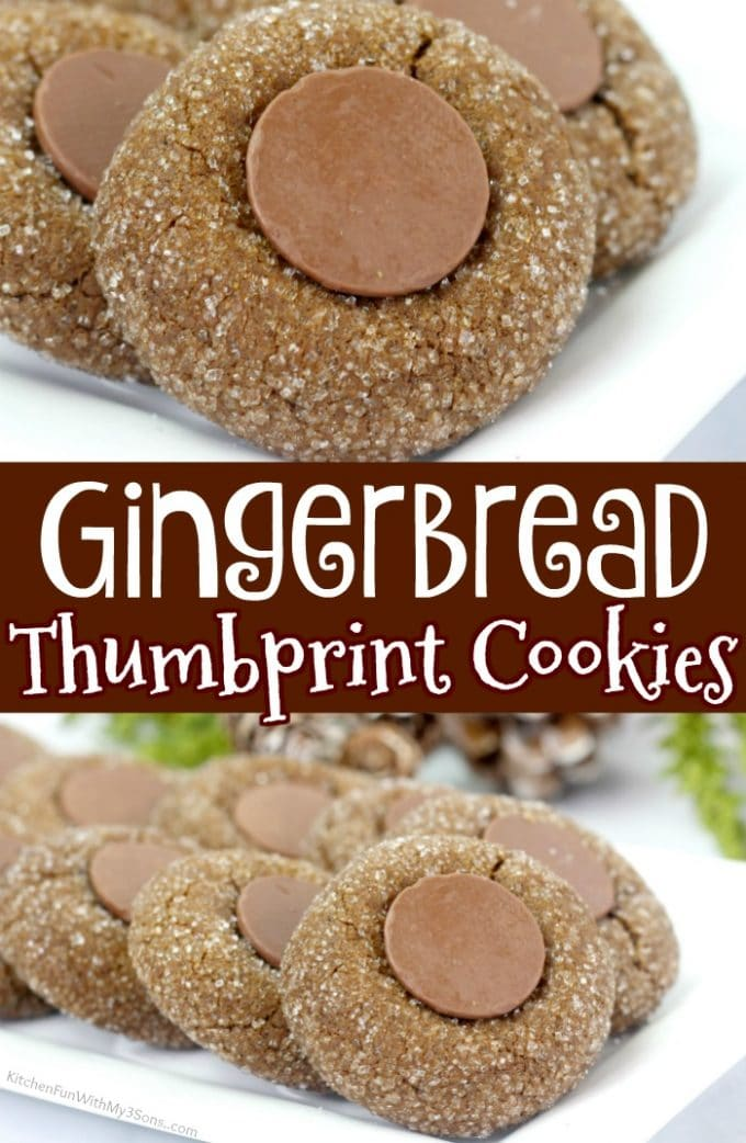 Gingerbread Thumbprint Cookies