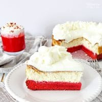 Red Velvet Cheesecake Cake with White Chocolate Mousse