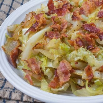 Fried Cabbage with Bacon