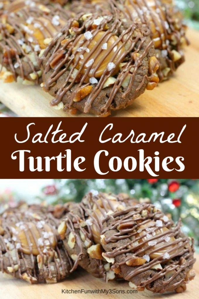 Salted Caramel Turtle Cookies