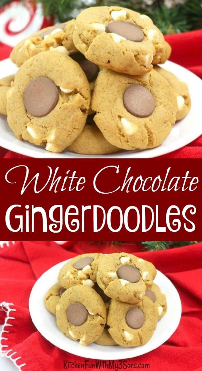 White Chocolate Gingerdoodles