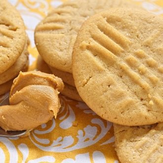 Peanut Butter Cookies made with 3-ingredients