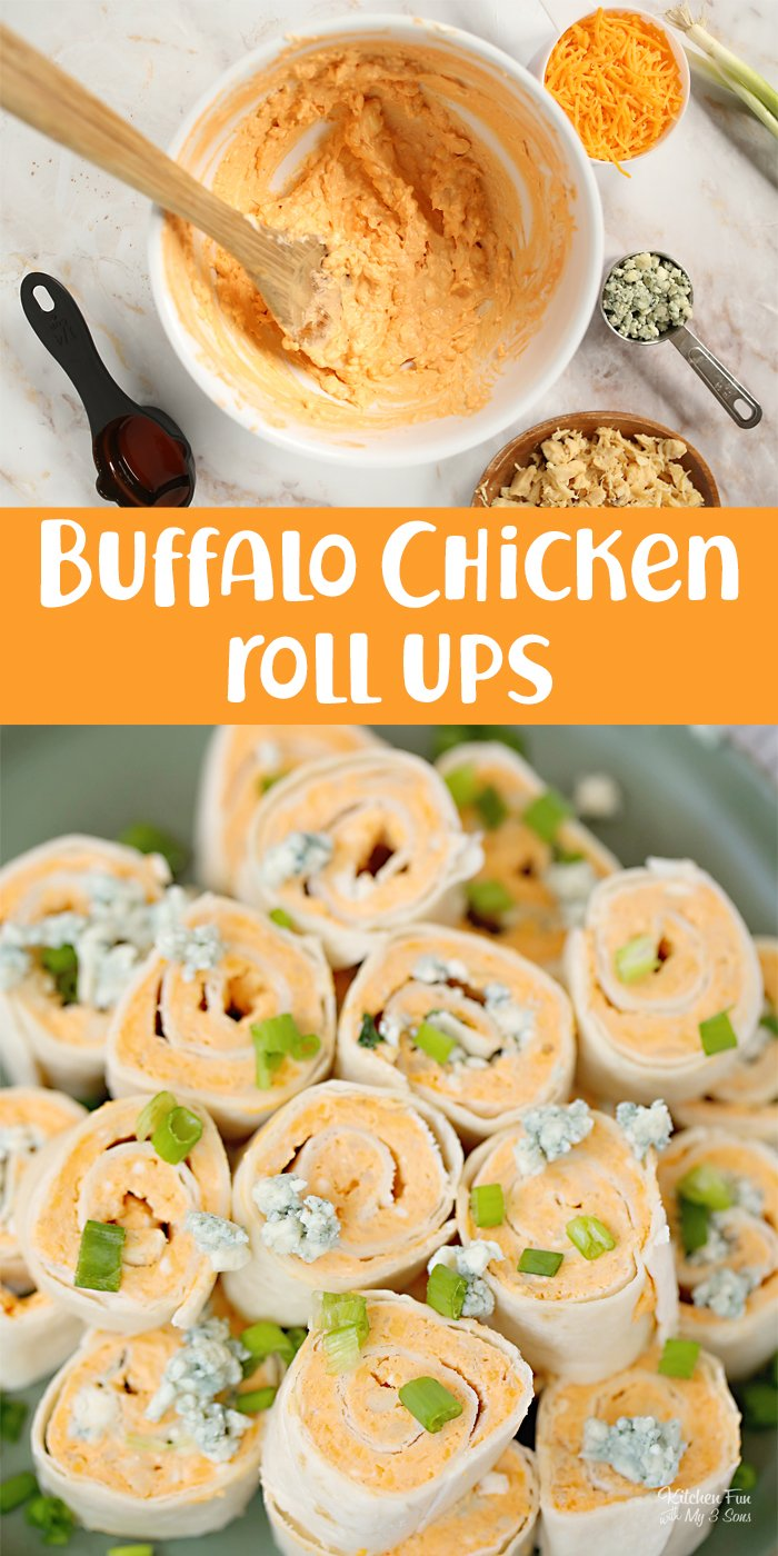 Buffalo Chicken Roll Ups