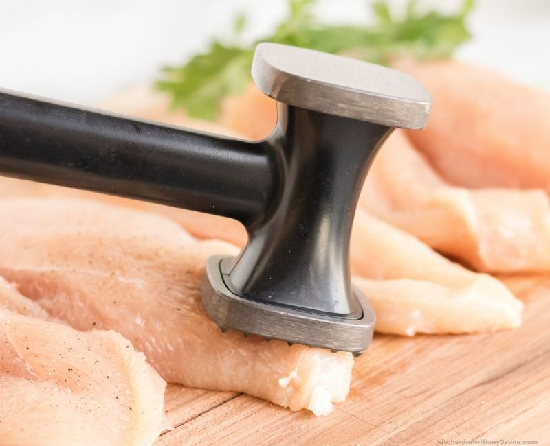 flatening the chicken