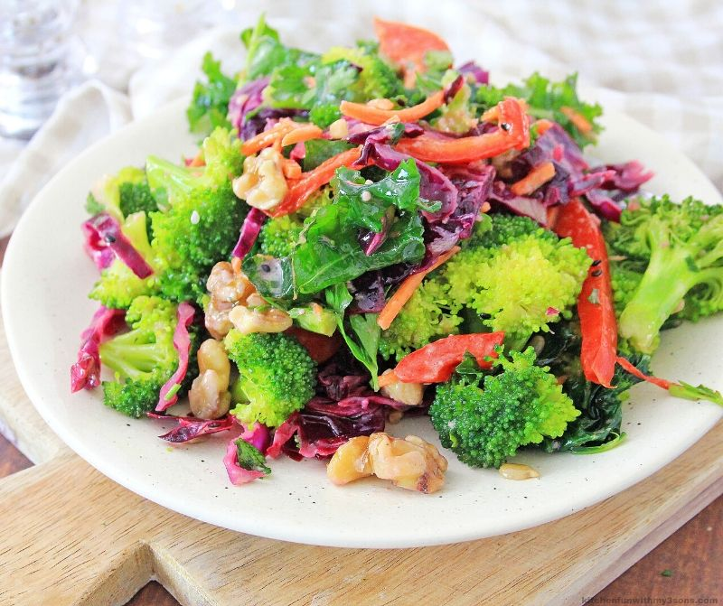 healthy salad on a white plate