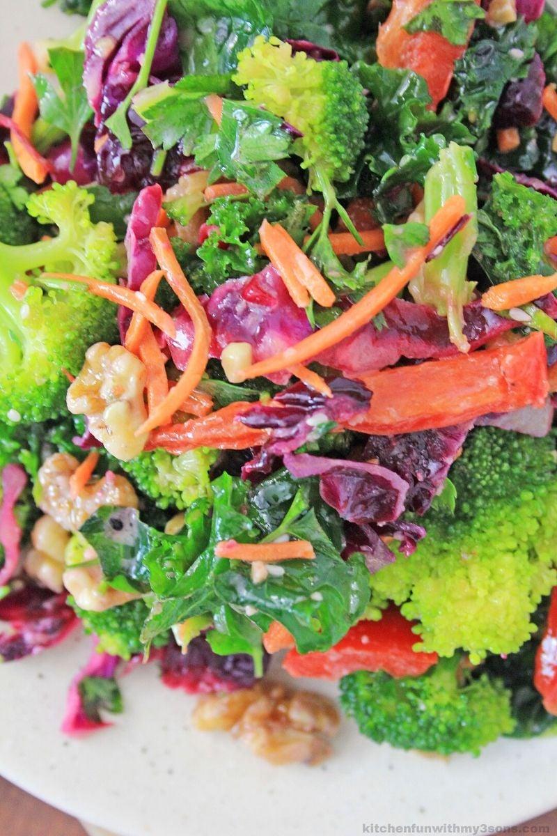 close up of detox salad