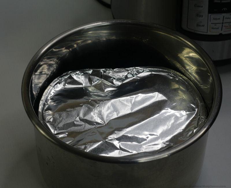 cake pan inside of instant pot