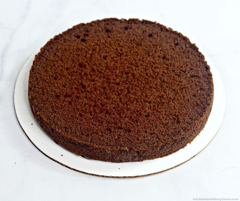 chocolate cake layer