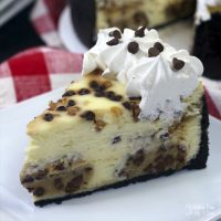 Instant Pot Cookie Dough Cheesecake with an Oreo crust, combines everyones love of cookie dough with the deliciousness of a cheesecake.