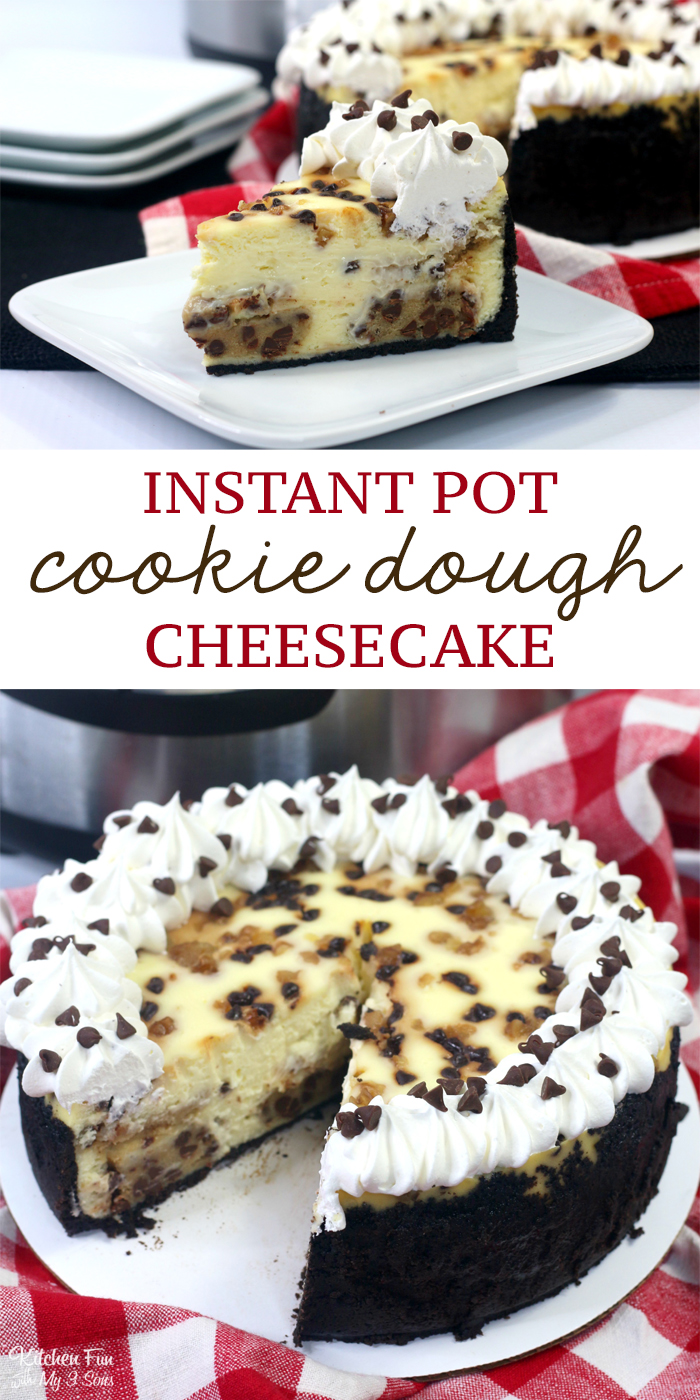 Instant Pot Cookie Dough Cheesecake