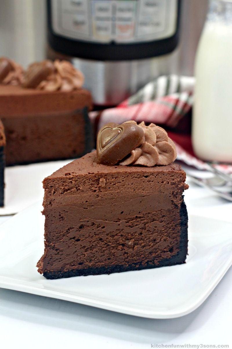 Instant Pot Godiva Chocolate Cheesecake