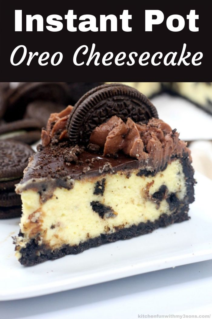 Instant Pot Oreo Cheesecake for pinterest