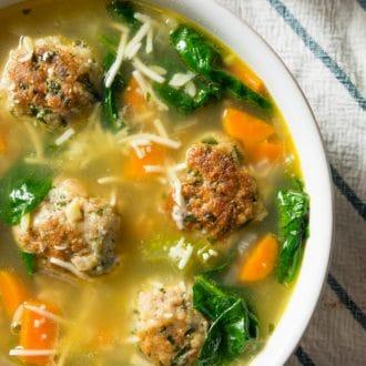 Italian Wedding Soup Close Up