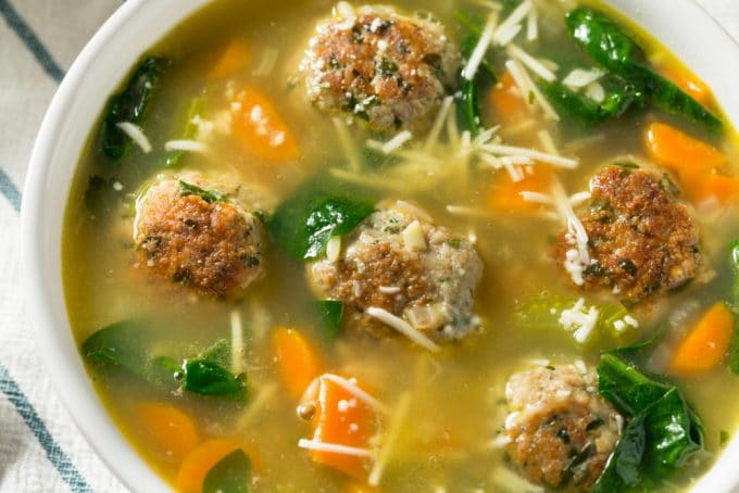 Homemade Meatball Soup