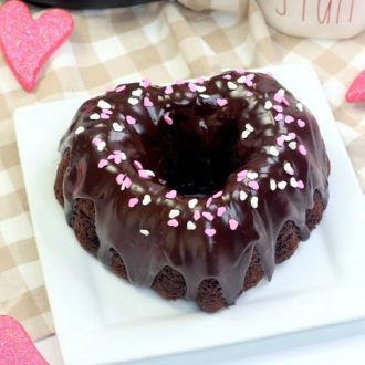Instant Pot Bundt Cake for Valentine's Day