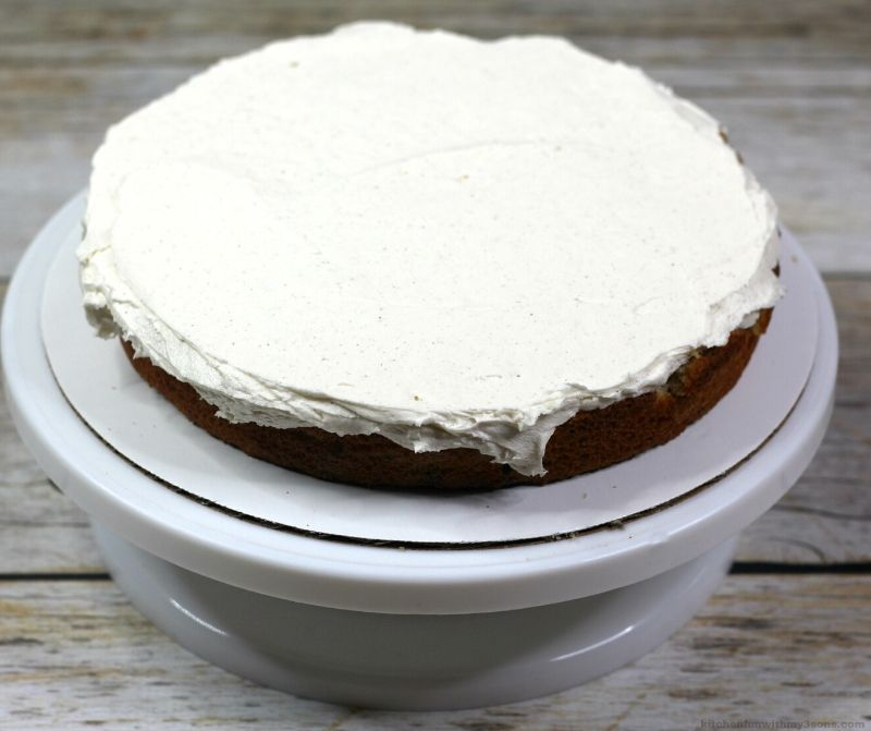 cake layer with white icing