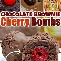 Chocolate Brownie Cherry Bombs