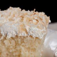 Coconut Cream Cake Close-Up