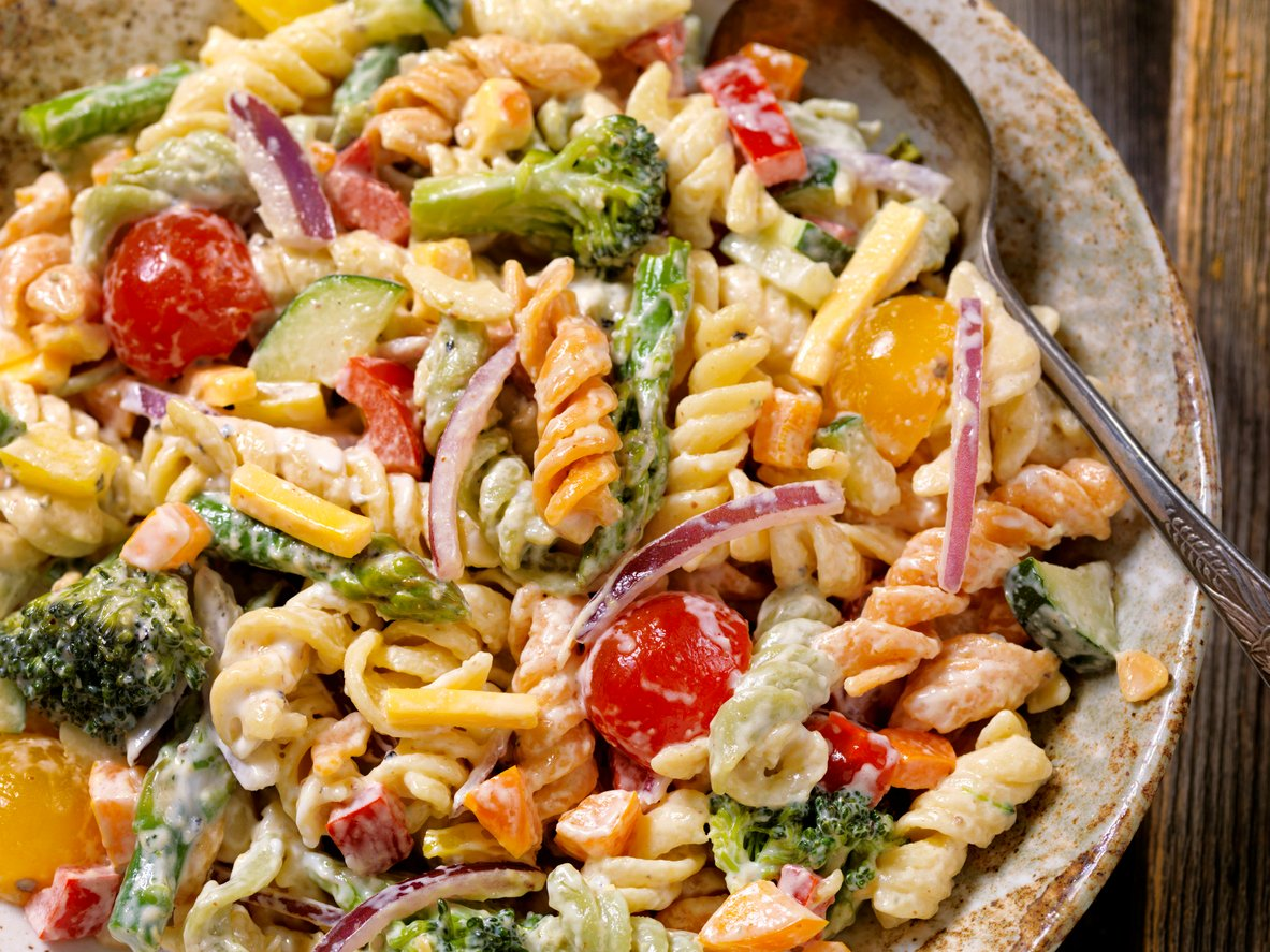 The Best Creamy Pasta Salad Recipe Kitchen Fun With My 3 Sons