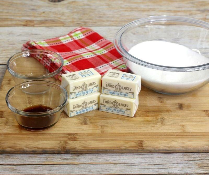 ingredients for custard cake