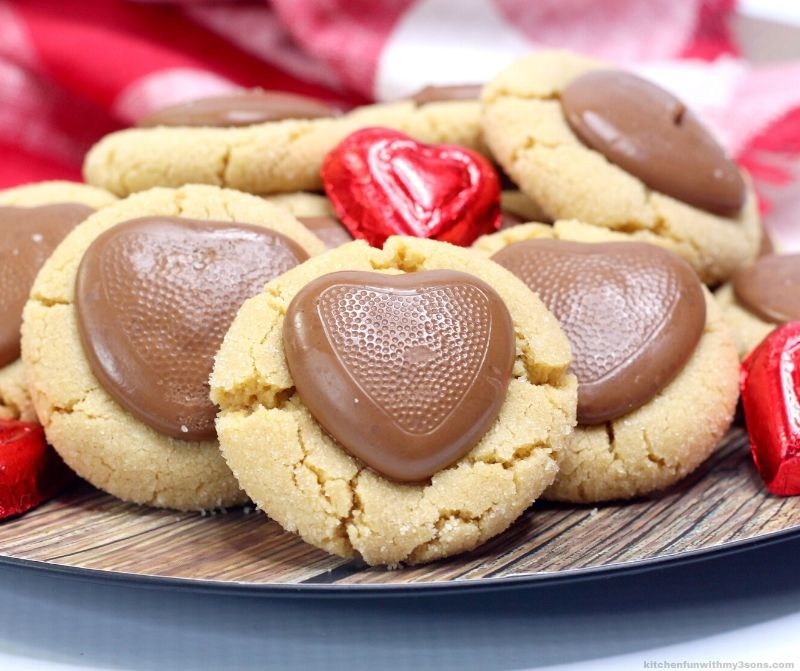 heart peanut butter blossoms
