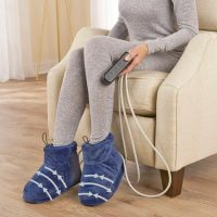 Heated Slippers That Also Massage And Compress Your Feet