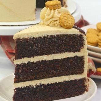 Nutter Butter Chocolate Peanut Butter Cake