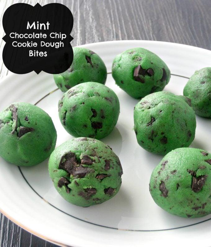 Mint Chocolate Chip Cookie Bites