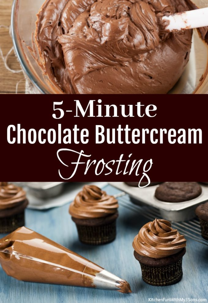 5-Minute Chocolate Buttercream Frosting