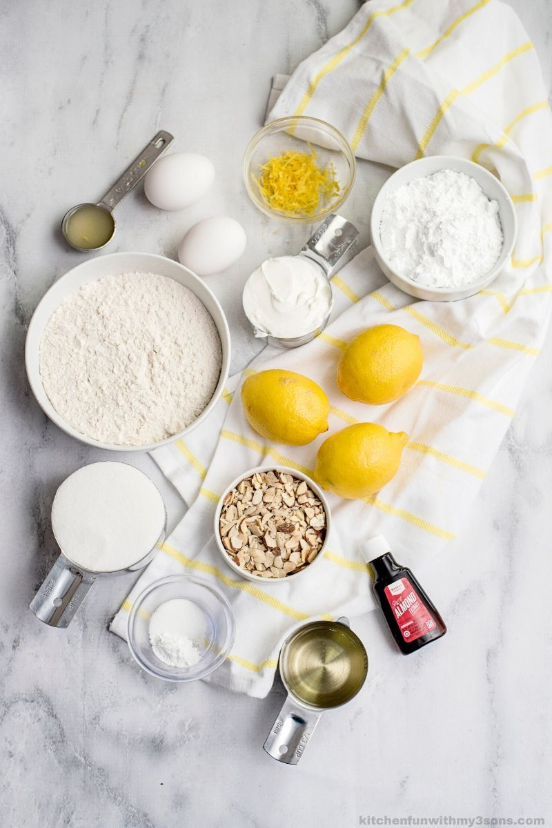 Ingredients in Almond Lemon Bread Recipe