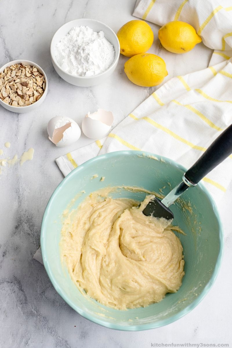 Almond Lemon Bread Recipe batter