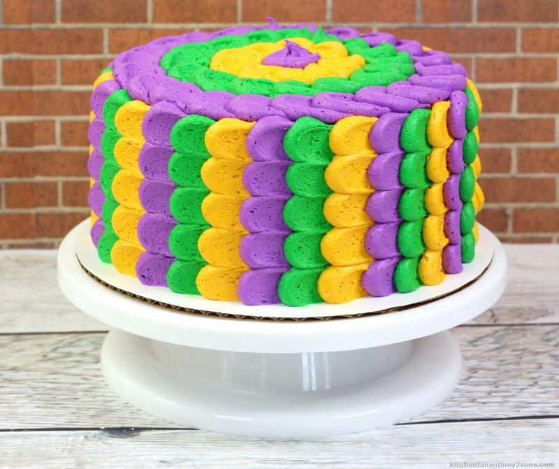 Best Ever Mardi Gras Cake