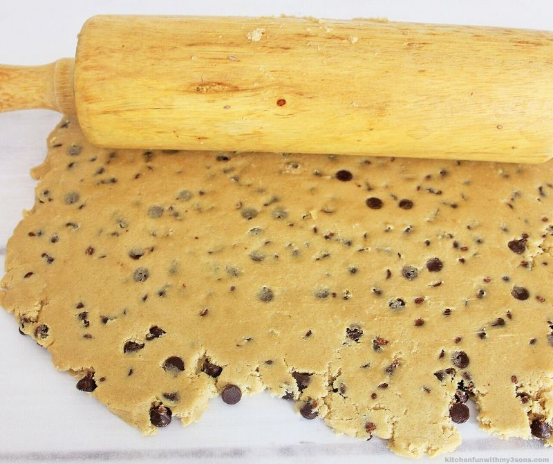 rolled out cookie dough