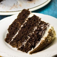 Chocolate Stout Cake with Whiskey Buttercream Frosting