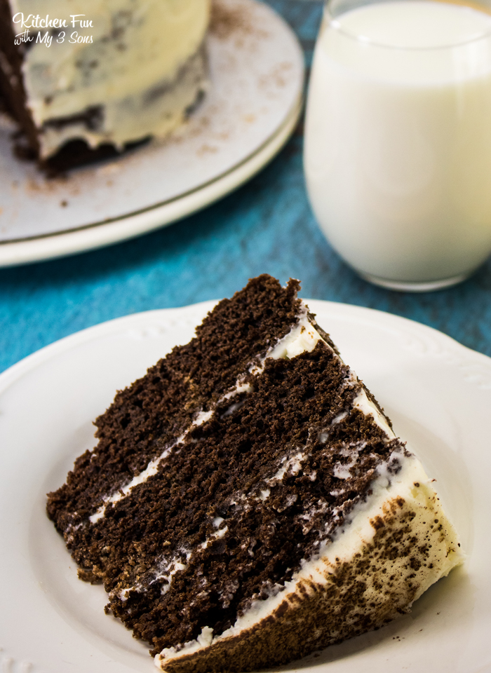 Chocolate Stout Cake is a simple chocolate cake recipe but with one big difference: beer. The icing follows suit by including whiskey!