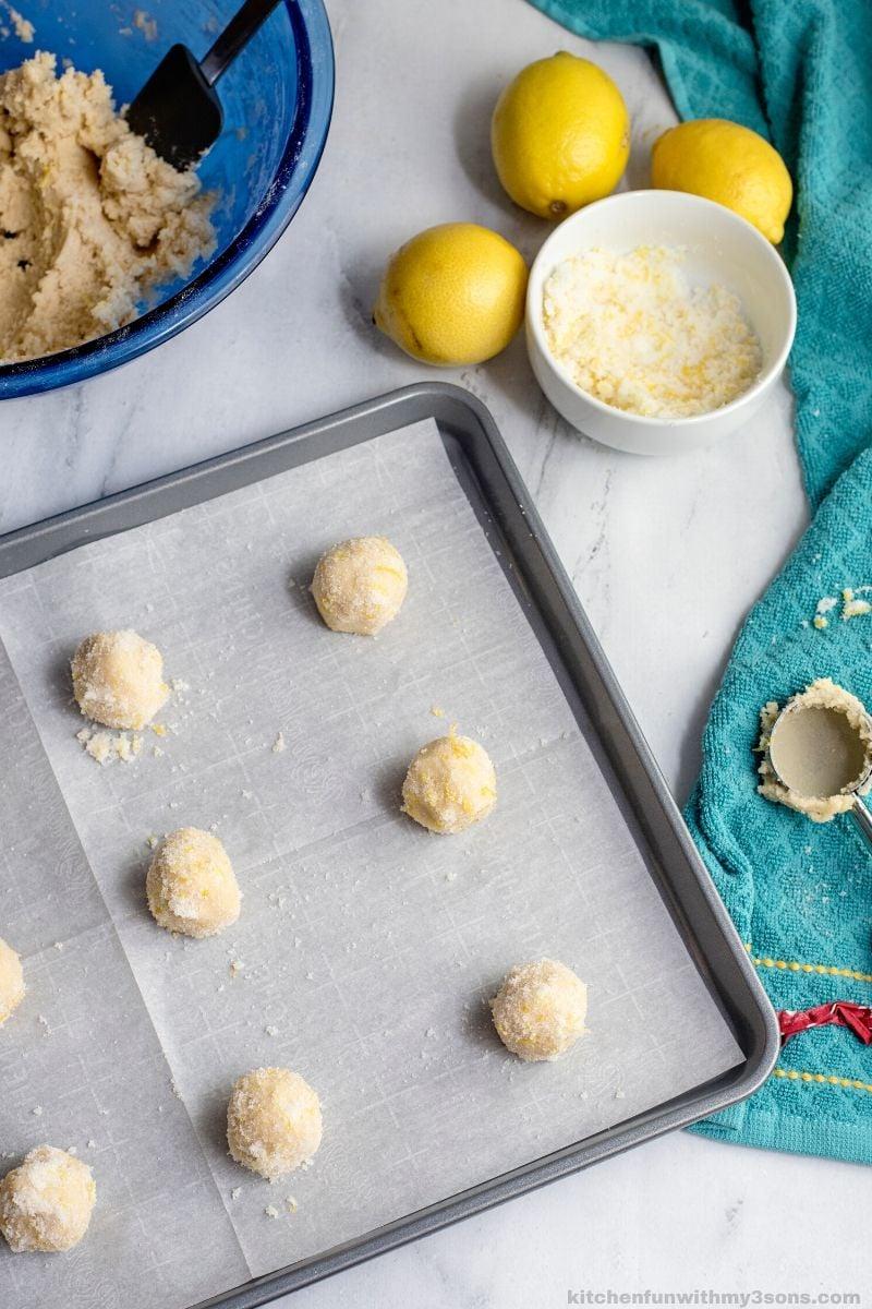 rolled Easy Lemon Sugar Cookies