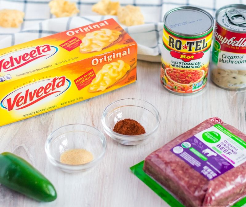 Hamburger Cheese Dip ingredients