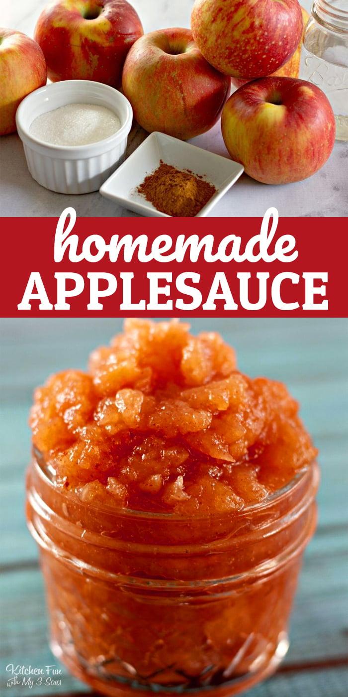 Easy Homemade Applesauce Recipe (4-ingredients)